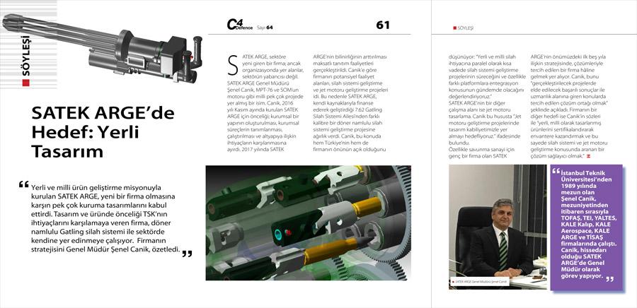 SATEK ARGE, Online savunma dergisi C4Defence 64. sayısında